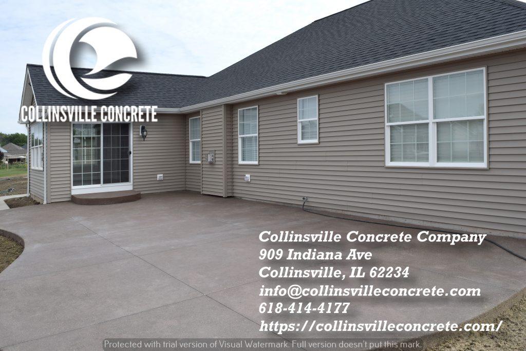 New concrete Patio Collinsville IL