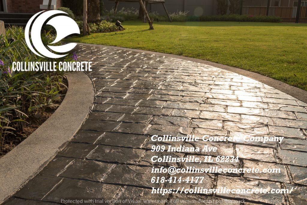 Colored Concrete Driveway Patio Collinsville IL